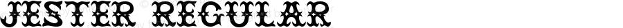 Jester Regular Macromedia Fontographer 4.1.3 7/8/96