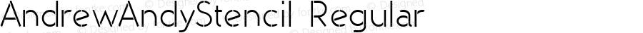 AndrewAndyStencil Regular Macromedia Fontographer 4.1.3 7/10/96