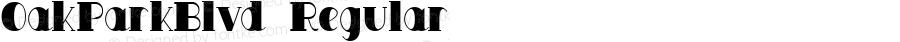 OakParkBlvd Regular Altsys Fontographer 4.0 10/22/93