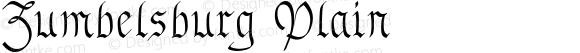 Zumbelsburg Plain Macromedia Fontographer 4.1.3 7/10/96
