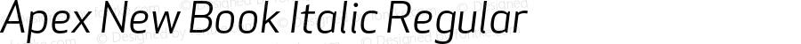 Apex New Book Italic Regular Version 1.001 2006, Revised version replacing Apex Sans
