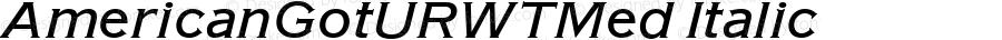 AmericanGotURWTMed Italic Version 1.05