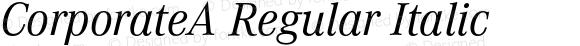 CorporateA Regular Italic