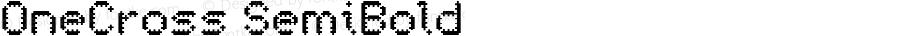 OneCross SemiBold version 1.00