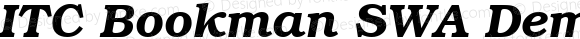 ITC Bookman SWA Demi Italic