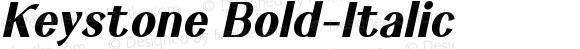 Keystone Bold-Italic