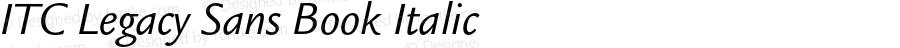 ITC Legacy Sans Book Italic 001.000