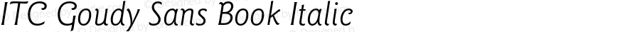 ITC Goudy Sans Book Italic 001.000