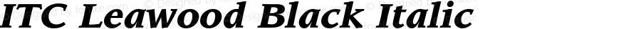 ITC Leawood Black Italic 001.000