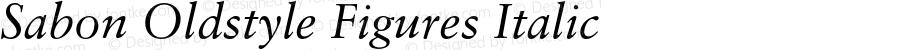 Sabon Oldstyle Figures Italic 001.000