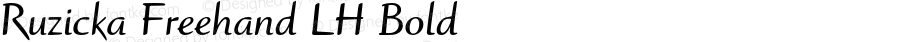 Ruzicka Freehand LH Bold 001.001