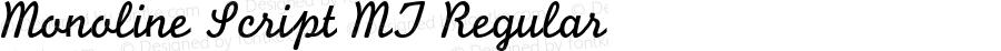 Monoline Script MT Regular 001.000