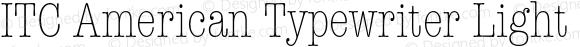 ITC American Typewriter Light C Regular 001.002