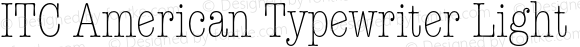 ITC American Typewriter Light C Regular 001.001