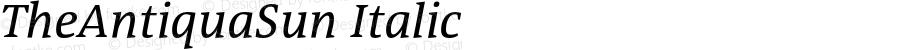 TheAntiquaSun Italic 001.001