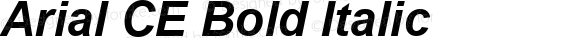 Arial CE Bold Italic MS core font:v1.00