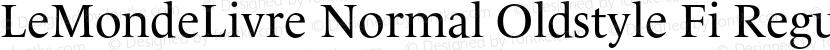 LeMondeLivre Normal Oldstyle Fi Regular Preview Image