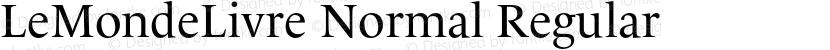 LeMondeLivre Normal Regular Preview Image