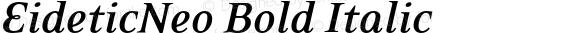 EideticNeo Bold Italic 001.000