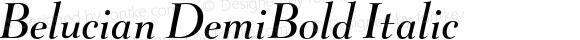 Belucian DemiBold Italic 001.000