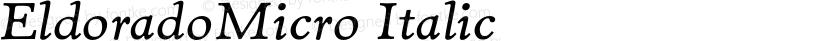 EldoradoMicro Italic Preview Image