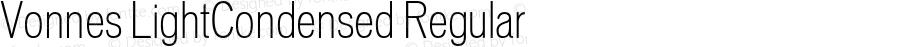 Vonnes LightCondensed Regular 001.000