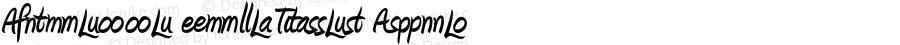 Amienne Ligatures Bold 001.001