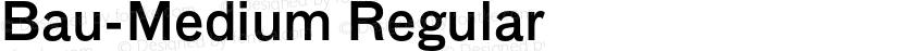 Bau-Medium Regular Preview Image