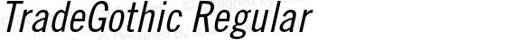 TradeGothic Regular