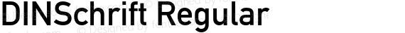 DINSchrift Regular preview image