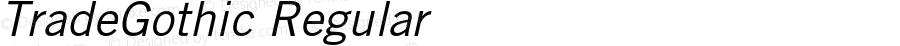 TradeGothic-Oblique