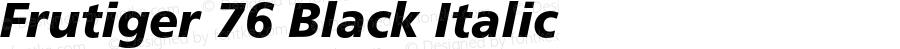 Frutiger 76 Black Italic 001.001
