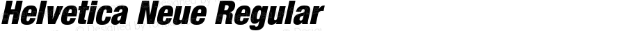 Helvetica Neue Regular 001.000