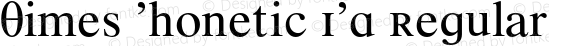 Times Phonetic IPA Regular 001.000