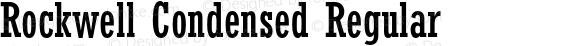 Rockwell Condensed Regular 001.000