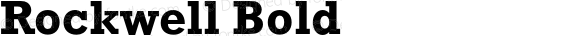 Rockwell Bold 4