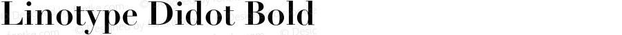 Linotype Didot Bold 001.000