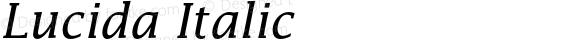 Lucida Italic 001.001