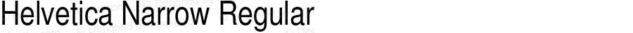 Helvetica Narrow Regular 001.003
