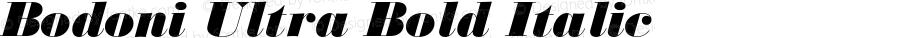 Bodoni Ultra Bold Italic 1