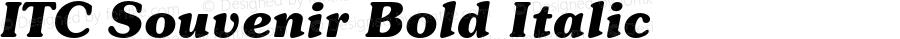 ITC Souvenir Bold Italic 001.001