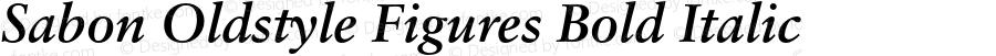 Sabon Oldstyle Figures Bold Italic 001.000