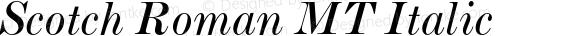 ScotchRomanMT-Italic