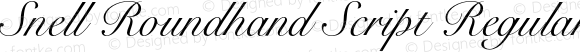 Snell Roundhand Script Regular 001.000