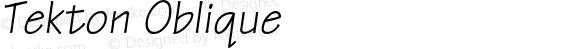 Tekton Oblique 001.001