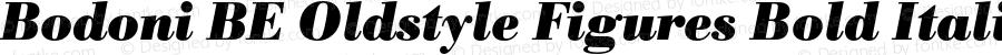 Bodoni BE Oldstyle Figures Bold Italic 001.001