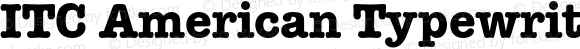 ITC American Typewriter Bold 001.003