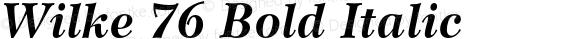 Wilke 76 Bold Italic 001.000
