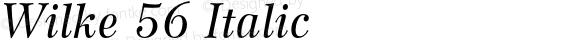 Wilke 56 Italic 001.000