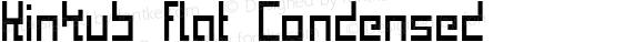 Kinkub flat Condensed